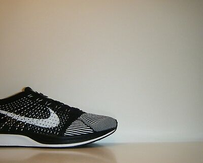 pretty nice fb1a7 12d3d 2014 Nike Flyknit Racer Oreo Orca White Black Sz. 9 HTM SP Trainer 526628-