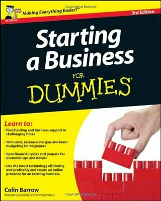 Starting a Business For Dummies by Barrow, Colin Paperback Book The Cheap Fast