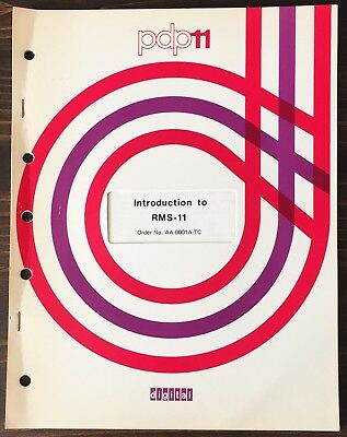 Digital DEC PDP-11 Introduction To RMS-11 1977
