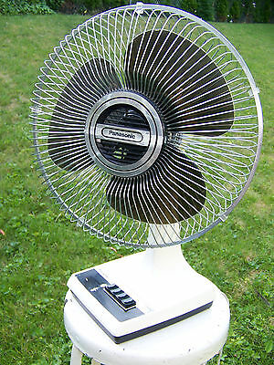 Panasonic Brown Blade  Oscillating 12 Inches Table Desk Office Wall Fan F1209 A