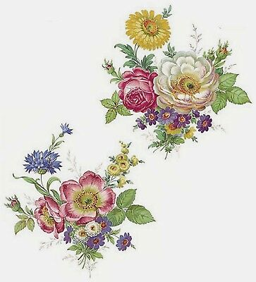 "2 Meissen Wild Flower 6-3/4""  Waterslide Ceramic Decals 272 Bx"