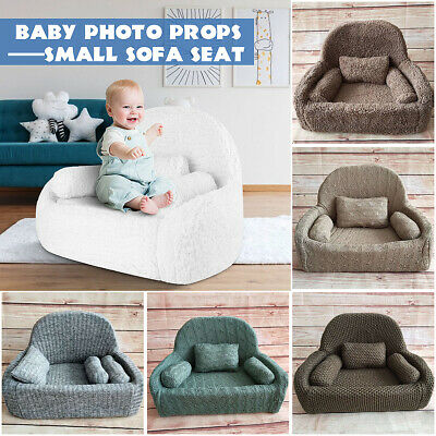 Newborn Baby 3 Cushions Sofa Seat Photo Props Studio Photography Backdrop Decor