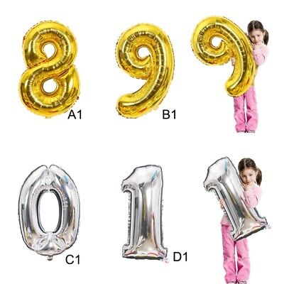 """32"""" 40"""" Giant Foil Number Balloons letter Air Helium Birthday Age Party Wedding"""
