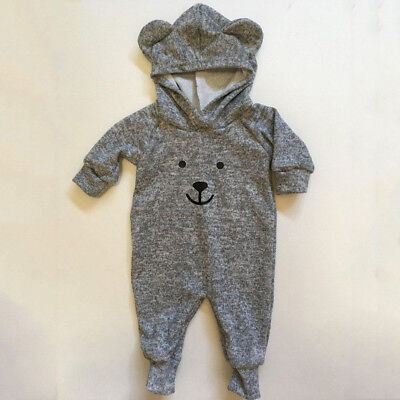 UK Cute Newborn Baby Boys Girls Tops Romper Jumpsuit Long Pants Outfits Clothes
