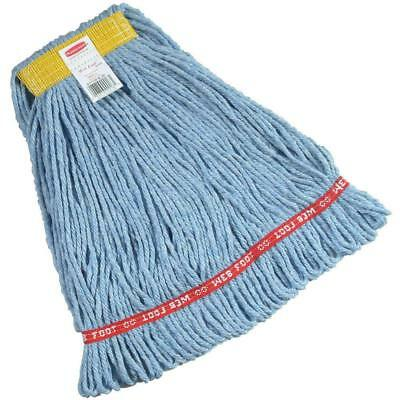Rubbermaid Commercial 1 inch Small Headband Web Foot Wet Mop - Blue