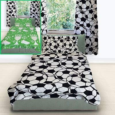 Football Single Duvet Cover Set Childrens - Reversible 2 In 1 Design