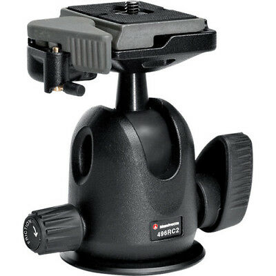 Manfrotto 496RC2 Compact Ball Head with 200PL-14 Quick Release Plate