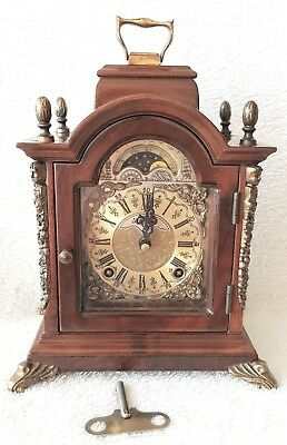 Mantel Clock Warmink Wubba Vintage Dutch Shelf Bracket Moon Dial Night Switch