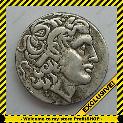 Ancient Greek Alexander 3 the great King Rare Coin Silver Tetradrachm 336-323 BC