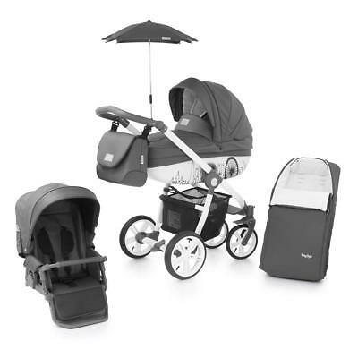 BabyStyle Prestige 2 Active Chassis Pram Package (Horizon) & Cosytoes - RRP 659