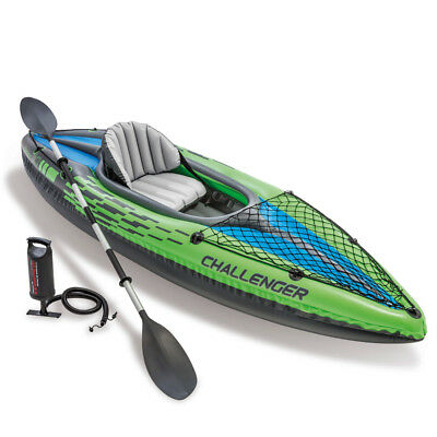 2019 Intex K1 Challenger Kayak One Man Inflatable  Canoe + Oars and Pump #68305