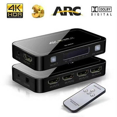 Switch Splitter 4-Port HDR HDMI 4x1 1080P 4K 60Hz HDMI 2.0 HDCP 2.2 UHD Switcher