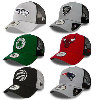 New Era Men's NFL NBA Team Essential Trucker Cap Bulls Patriots Seahawks Celtics