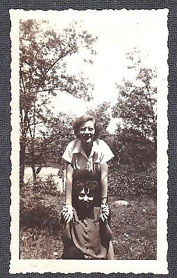 Vintage Antique Photograph Two Women Holding Hands in the Garden