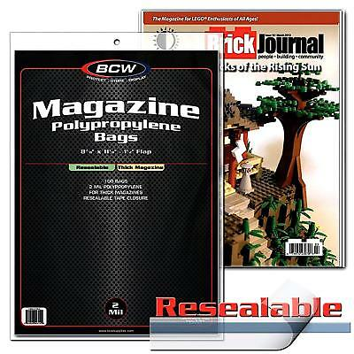 100 BCW Resealable Thick Magazine Bags and Boards BCW Archival Storage