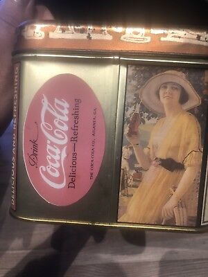 Vintage 1988 Small Coca-Cola Coke Tin Container Box collectible item