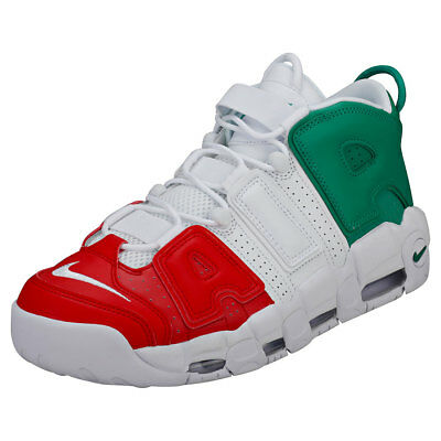 2e21efbea5 Nike Air More Uptempo 96 Italy Qs Hommes Green White Red Cuir Baskets