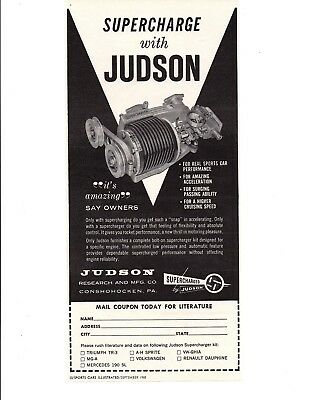 1960 Judson Supercharger ~ Original Print Ad