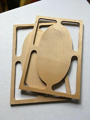 Vintage Wooden Tall Clock Grandfather Side Panels for Parts Repair ML419