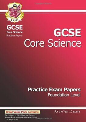 GCSE Core Science Practice Papers - Foundation by CGP Books Paperback Book The
