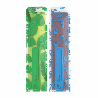 Cherub Baby Reusable Freeze n Squeeze Ice Popsicle Pouches 20pk - Blue Green