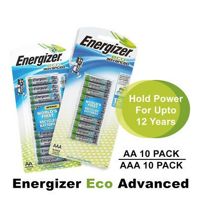 Energizer Eco Advanced AA/AAA Recycled Batteries 10 Pack Long Lasting