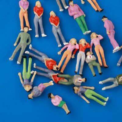 1:43 Scale Gauge Model Railway Mixed Poses Painted People/Figures Layout 25pcs