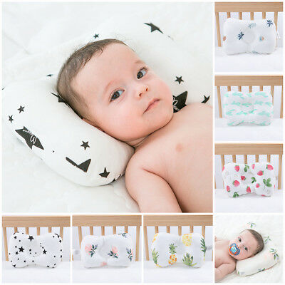 Infant Baby Soft Pillow Prevent Nursing Cot Cushion Flat Head Anti-roll Support