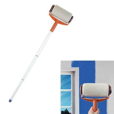 Multifunctional Handle Paint Roller Brush Home Wall Decor Painting Tool Easy