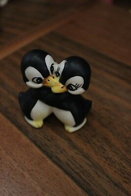 Statuetta Statuina COPPIA PINGUINI  I LOVE YOU -PINGUINE COUPLE