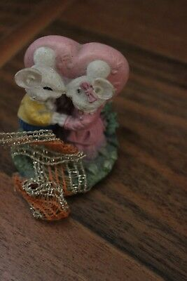 Statuetta Statuina COPPIA TOPOLINI I LOVE YOU -MOUSE COUPLE