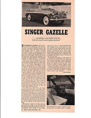 1959 Singer Gazelle ~ Original Article / Ad