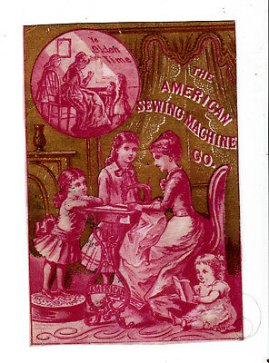 American Sewing Machine Co Philadelphia in the Parlor Mother Girls Card c1880s