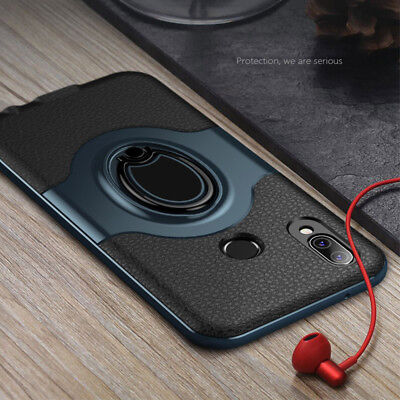 Shockproof Bumper Case 360 Rotating Ring Cover For Huawei P10 P20 Plus Mate 10