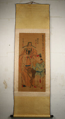 chinese Old Exquisite Handpainted Artistic Conception kingScrolls ornament art