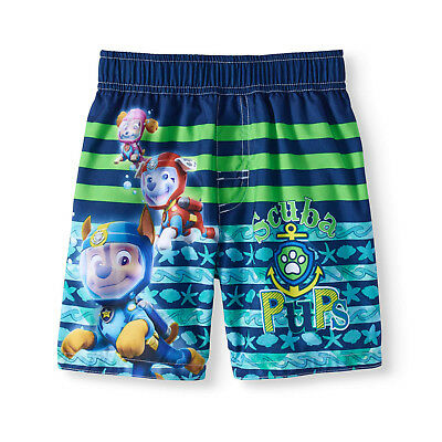NEW Toddler Boys Nickelodeon Licensed Paw Patrol Scuba Pups Board Swim Shorts 4T
