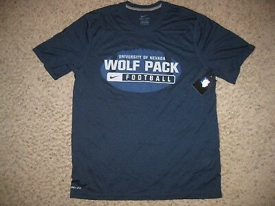 finest selection ab918 3b2c4 NWT NEW Nevada Wolfpack Nike Dri-Fit Football T-Shirt L Navy Blue College