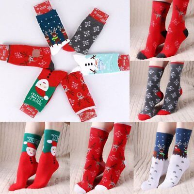 Women Winter Socks Christmas Gift Warm Cotton Sock Cute Santa Claus Comfortable