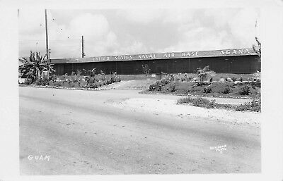 GUAM 1940s RPPC Real Photo Postcard United States Naval Air Base Agana
