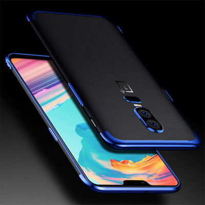 Slim Shockproof Electroplate For OnePlus 6 5T 5 Case Clear Soft TPU Hybrid Cover