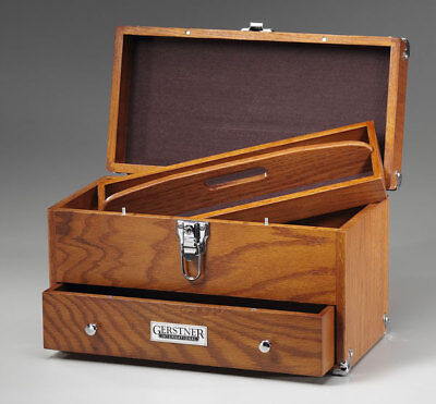 Gerstner International GI-515 Oak & Veneer Tote Chest w/ Handle Tools Hobby