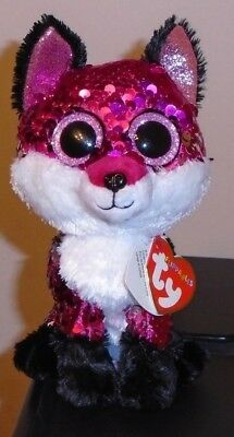 87213db978c Ty FLIPPABLES ~ JEWEL the Fox Changing Sequins 6