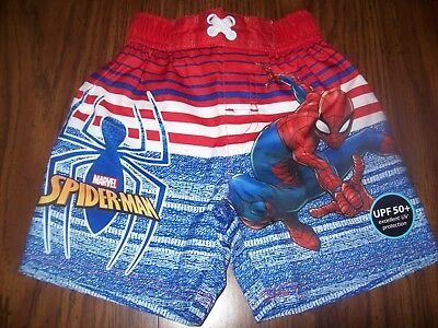 1d5582fa3c Toddler Boys Marvel SPIDER-MAN Swim Shorts Trunks - Size 2T - New NWT