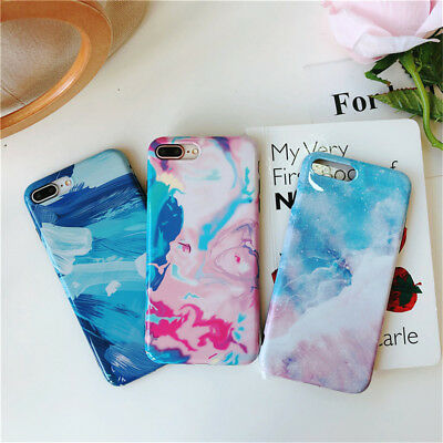 Marble Phone Case Cover For iPhone 7 6 6S 8 Plus Xs Fashion Back Soft TPU Soft