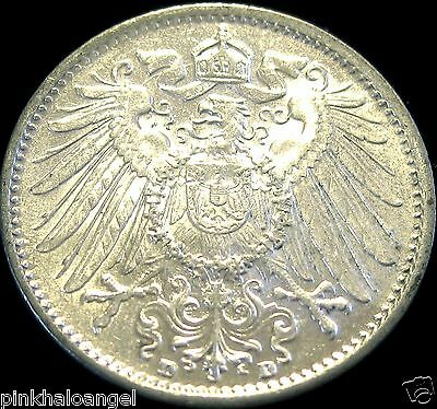 German Empire 1914D Silver Mark Coin