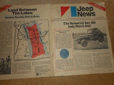 Vintage AMC Jeep News Volume 4 1977 with 1977 Mail order sheet