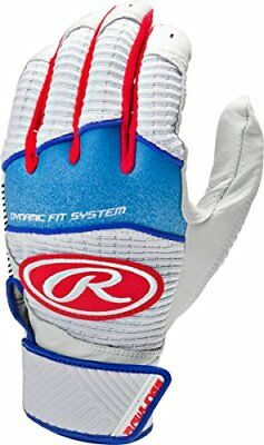 Rawlings Workhorse 950 Series Youth Batting Gloves White/Red Medium