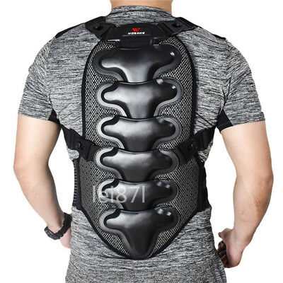 Motorcycle Back Protector Motocross Armor Guard Brace Knee Pads Support Gear