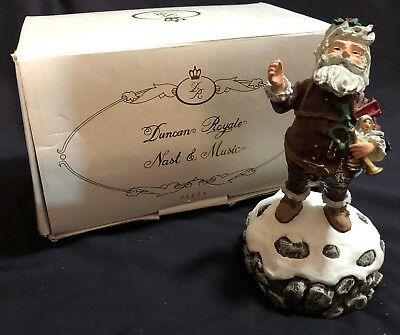 Duncan Royale Santa Nast Music Box 4921 1st Event Edition 1983 1990 Figurine 7""