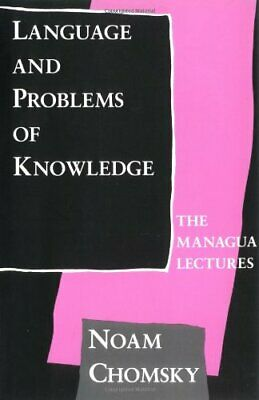 Language and Problems of Knowledge: Volume 16: The Ma... by Chomsky, N Paperback